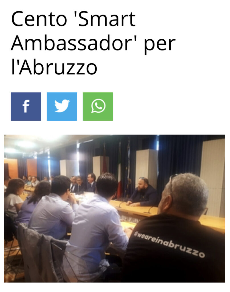 abruzzo smart ambassador - weareinabruzzo presente