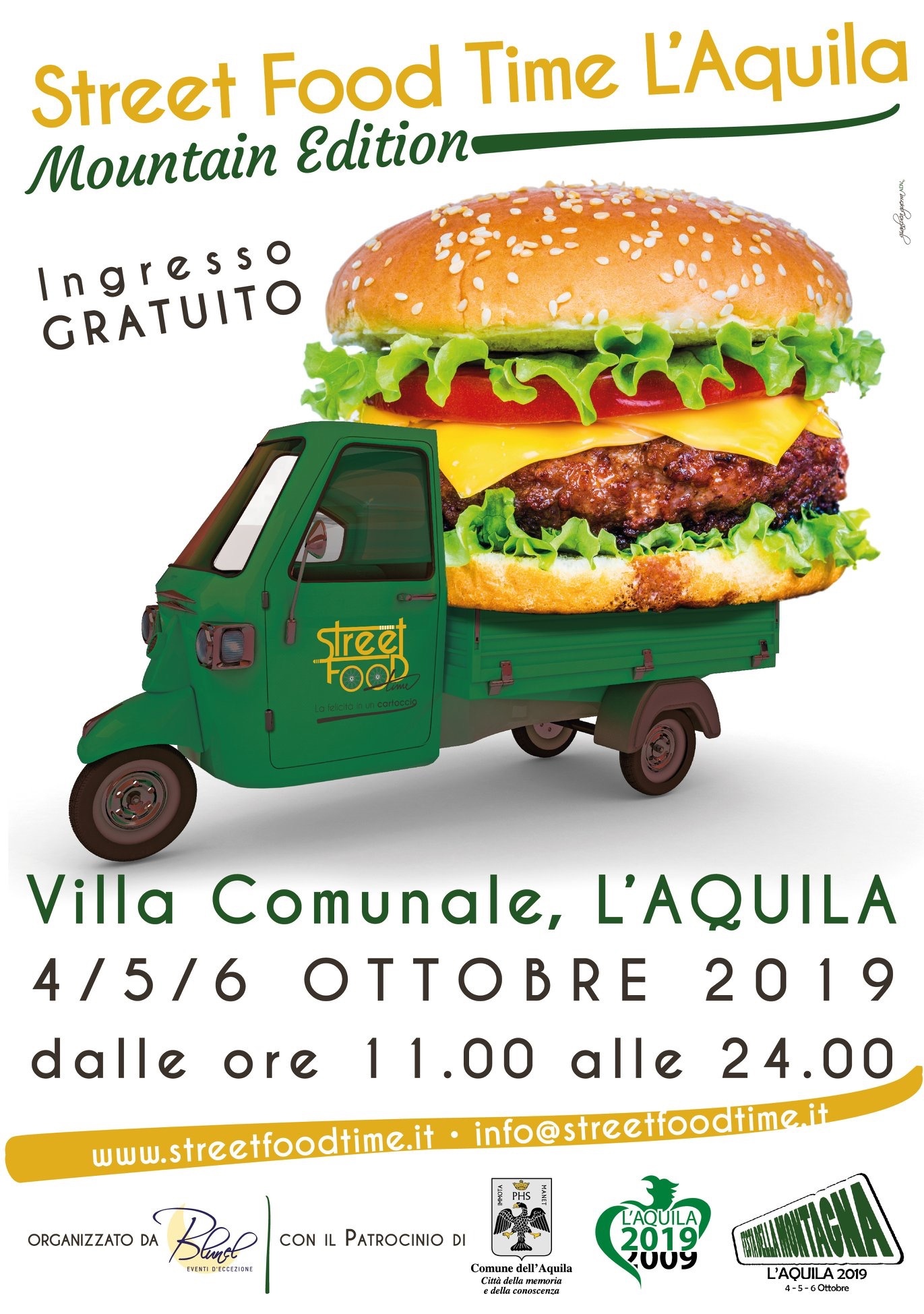 Locandina Street food Time l'Aquila Mountain Edition